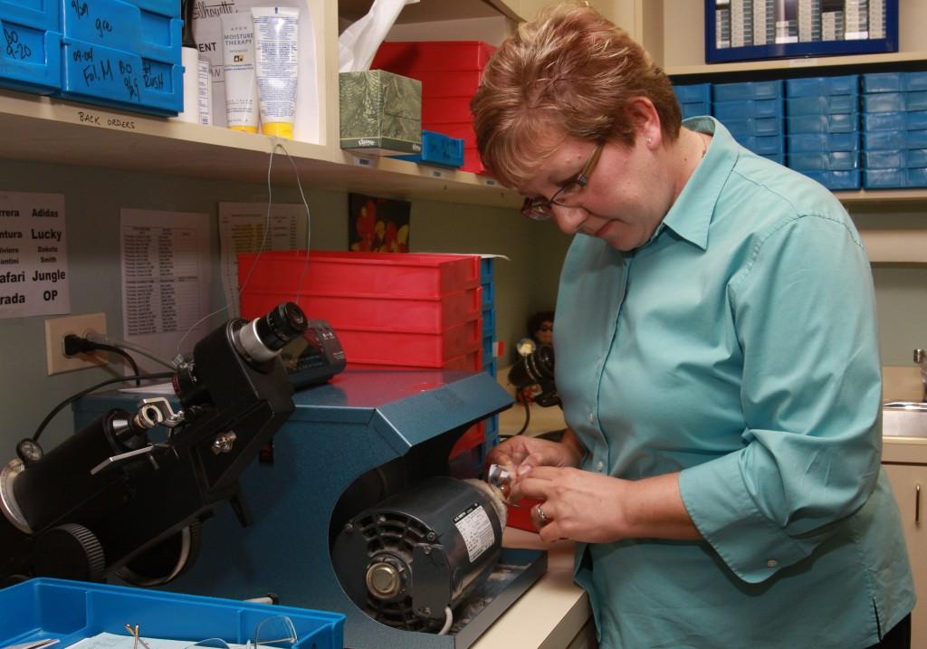 Karen in the lab